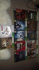 Xbox 360 slim 250gb - 12 games and 2 controllers