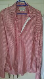 Jack Wills designer mens shirt, pink stripe. beautiful shirt.