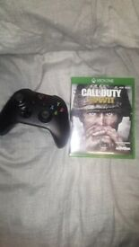 Xbox one with cod ww2, one controller all wires included (good condition)