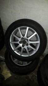 """Saab alloys with all good tyres 16"""""""