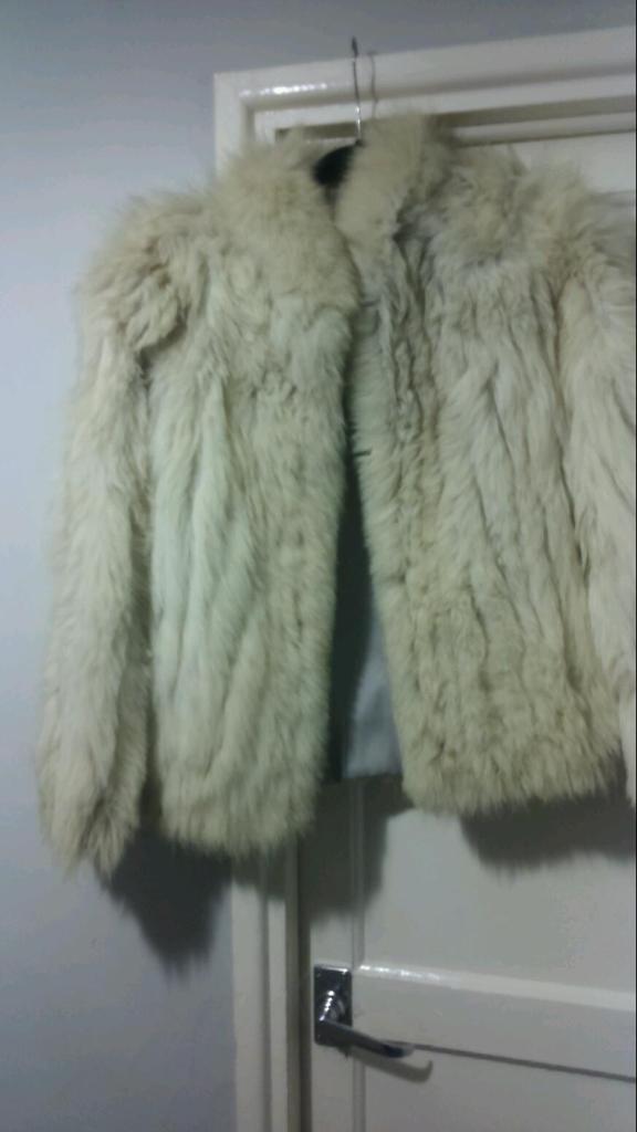 Real fox fancy jacket size 10/12