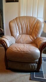Free Italian leather chair from George Street Furnishers