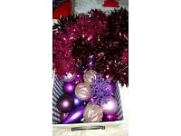 Purple and pink decorations