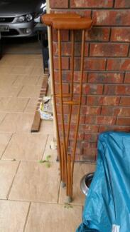 retro wooden crutches, excellent condition Golden Grove Tea Tree Gully Area Preview