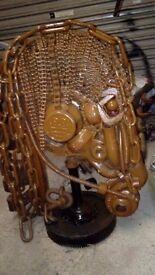 Scrap metal sculpture horse bust