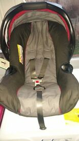 Nearly new baby car seat