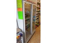 Double Door Drink Fridge For Sale. Pretty Much Brand New