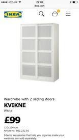 Free Ikea wardrobe 120cm wide/190cm high