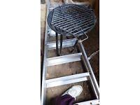 Small, portable BBQ + charcoal briquttes