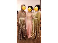 Faika Karim designer Pakistani wedding outfits.
