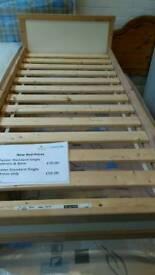 Childs pine single framed bed