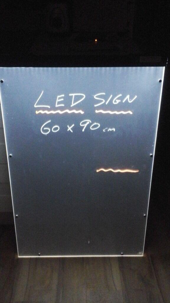 3 LED Signs ideal for cafe, salon, studio or shop