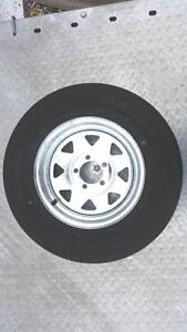 "14"" Sunraysia Ford Tyre & Rim Galvanised Glenorchy Glenorchy Area Preview"