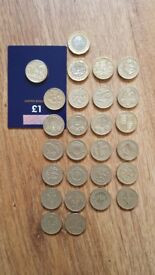 Coins full set of old round £1