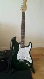 Guitar set and stand for sale