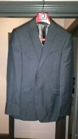 """Mens Three Piece suit jacket 40""""R trousers 34""""R"""