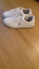 Mens size 9 white lacoste trainers for sale