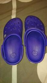Purple child's Crocs - junior size 3