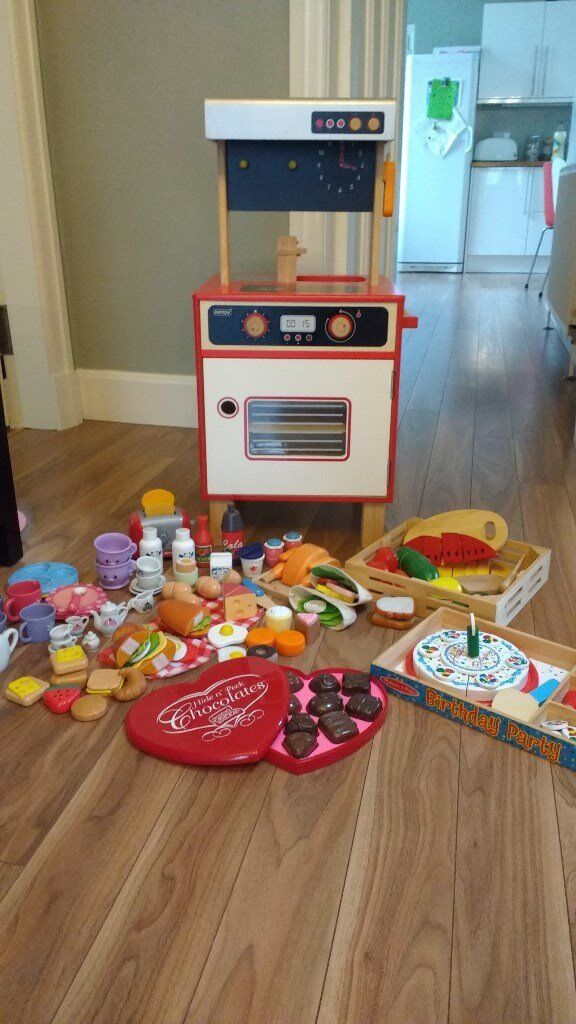 Wooden Kitchen & play food