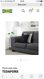 Grey 3 seater sofa and matching arm chair for sale