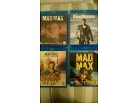 Mad Max Blu Rays including Fury Road