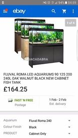 Fluval Roma 240 Cabnit For Fish Tank ( 4foot ) Cabinet ONLY.