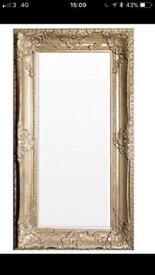 Shabby chic full length extra large ornate mirror