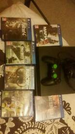 Ps4 with controller and headset etc and 6 top games