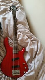 Cort 5 String Action Bass V - minimal wear, new strings