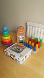 4 wooden toys