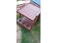 Garden table trolley BBQ stand