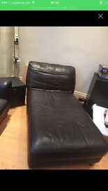 Real Leather 2 seater and matching chaise