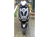 yamaha aerox 50cc with 100cc engine