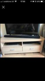 Chunky light oak effect sideboard and tv unit