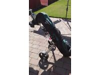 Full Set Golf Clubs and Bag including trolley