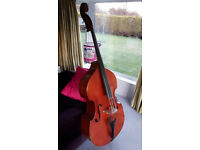 3/4 size Double Bass with padded gig bag