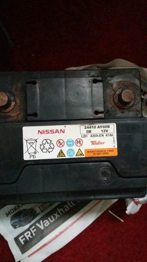 1 12 Volt Car Battery 47 Amps Fully Charged In Neath
