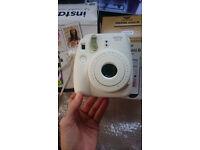 Fuji Film Instax Mini 8 polaroid film camera White Brand New In Box