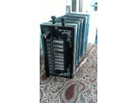 One- row vintage melodeon, very attractive little instrument