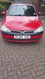 Vauxhall corsa c 1.2 in red