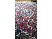 Extra Large Persian Style Rug / Carpet - Red Patterned in excellent condition.