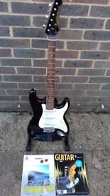 Stratocaster Style Guitar-By Rhino88com+Strings+Plectrums+Books