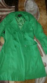 debenham green coat size 10for sale 15£
