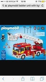 Playmobil fire engine with light and sound