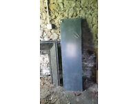 Black polished granite hearth for fireplace