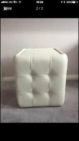 Pouffe/foot stool BN cream