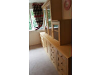 Living room/Study/Office furniture - 7 units - Beech effect