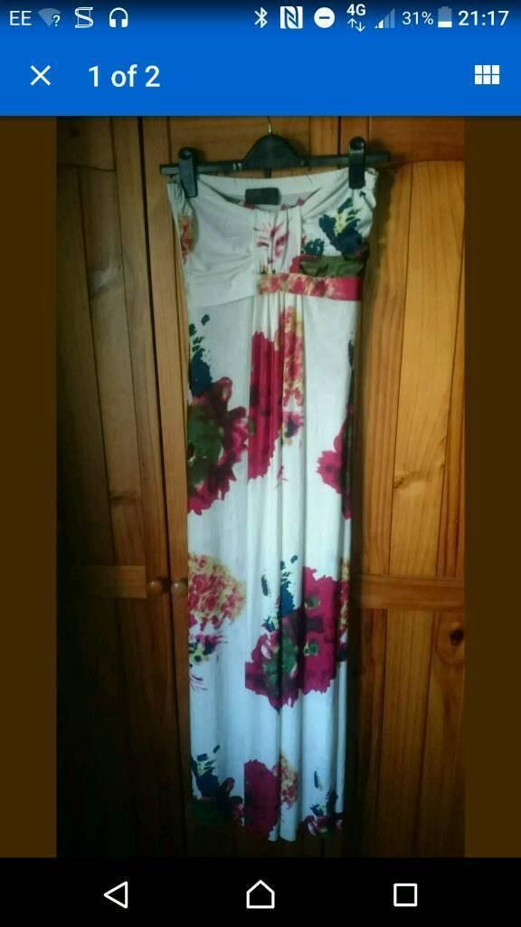 Apricot maxi dress, size 10