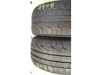 2X 245 45 19 (102V) Pirelli Sottozero Winter240 extra load Run Flat Tread 5 mm for only £150