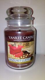 Yankee Candle large jar Hazelnut Coffee